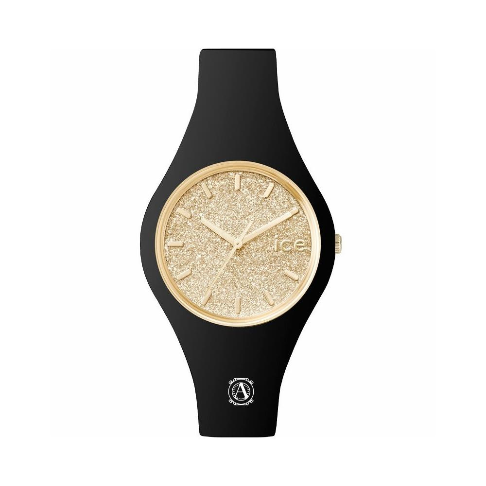 Ice Watch 001348  Ice Glitter Black Gold Small női óra