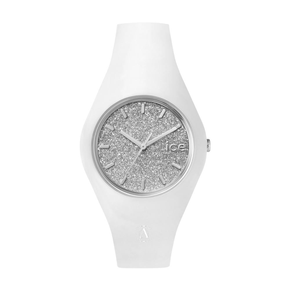 Ice Watch 001351 Ice Glitter White Silver Medium női óra