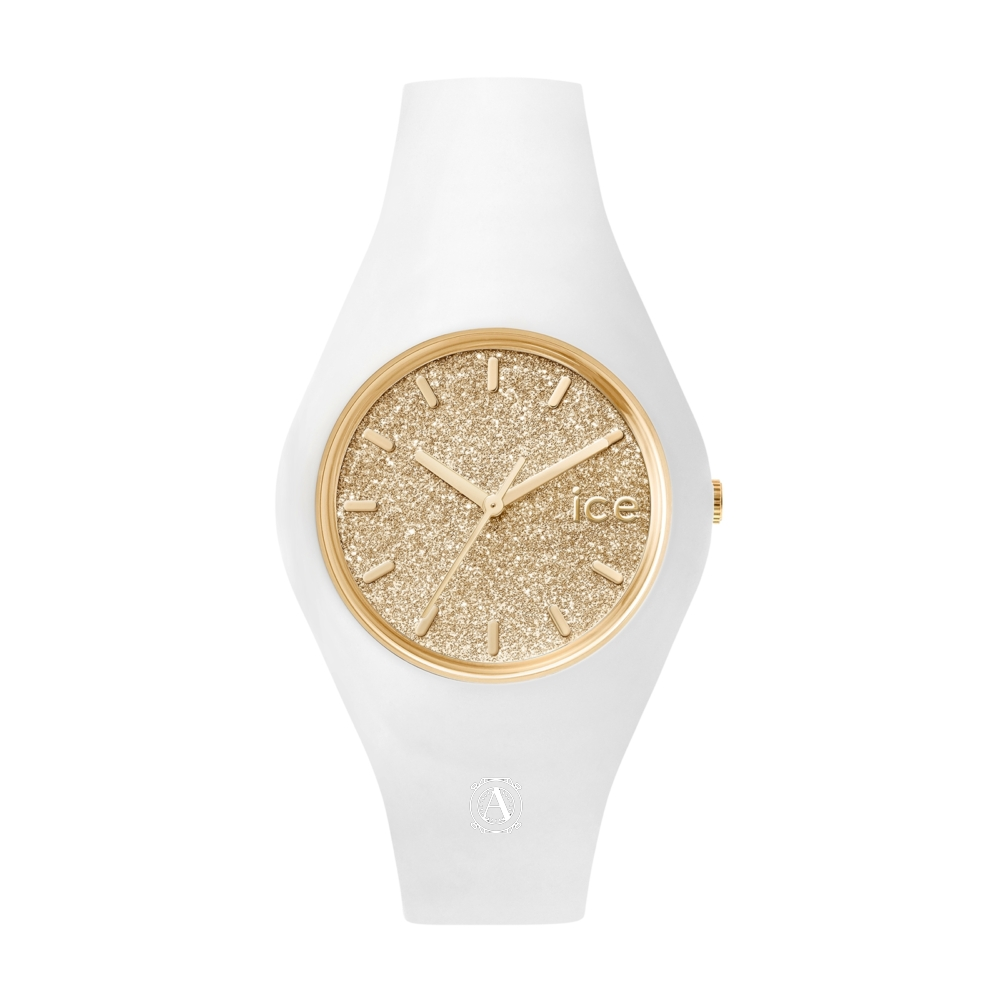 Ice Watch 001352 Ice Glitter White Gold Medium óra