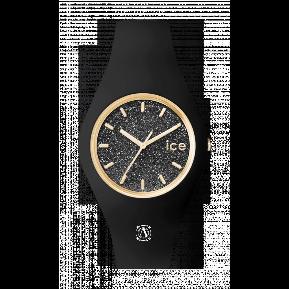 Ice Watch 001356 ICE Glitter Black Gold Medium unisex óra