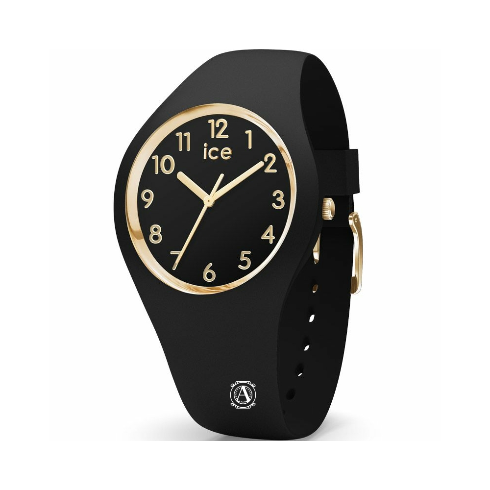 Ice Watch 015338 Ice Glam Black Gold Numbers Small óra